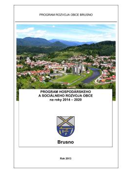 Program hospodárskeho a sociálneho rozvoja obce Brusno 2014