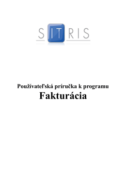 Fakturácia - Sitris.sk