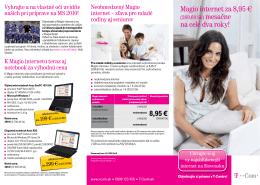 Magio internet za 8,95 € na celé dva roky!