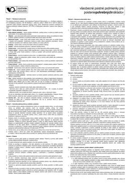 všeobecné poistné podmienky pre poisteniepohrebnýchnákladov