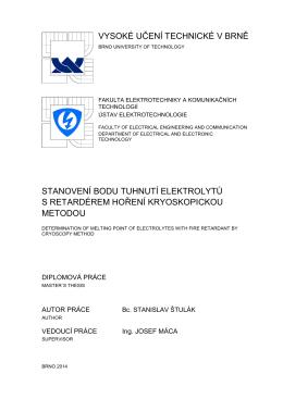 krivka tuhnutia - (EC-DMC) - Vysoké učení technické v Brně