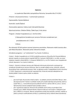 Zápis a uznesenie 27.4.2012