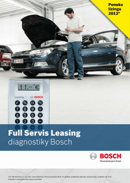 Full Servis Leasing diagnostiky Bosch