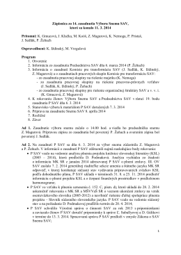 Výbor Snemu SAV č. 14 - Snem Slovenskej akademie vied
