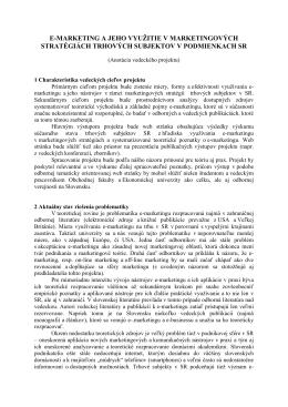 Anotácia projektu č. 2316076 (PMPV 2012)