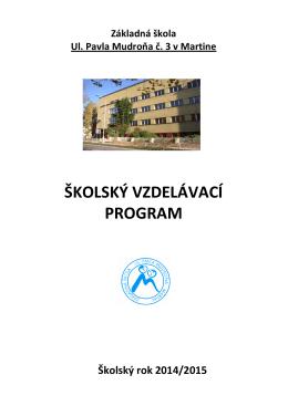 Školský vzdelávací program 2014/2015