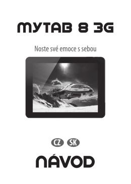 myTab 8 3G NÁVOD