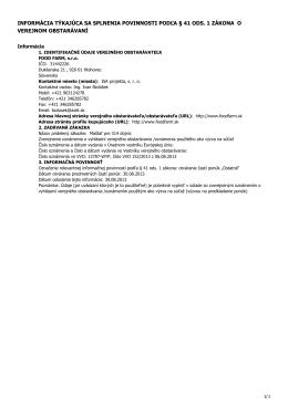 Splenenie povinnosti o verejnom obstarávaní (.pdf)