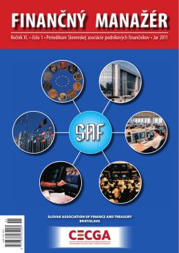 Finančný manažér 1/2011 - Slovenská asociácia podnikových
