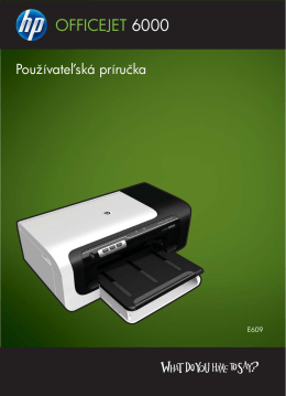HP Officejet 6000 (E609) Printer Series User Guide