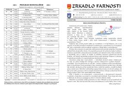ZRKADLO farnosti - február - Rímskokatolícka farnosť Košice