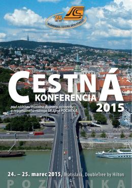 CESTNA KONFERENCIA 2015 – e-pozvanka s programom