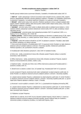 Pravidlá uverejňovania obsahu príspevkov v službe