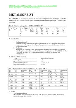 návodoch na použitie metalsorbu