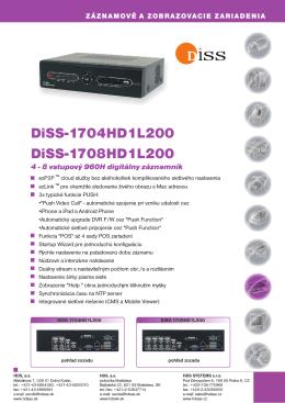 DiSS-1704HD1L200, DiSS