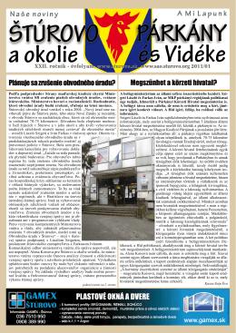 2011/1 - Mesto Štúrovo