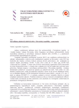 úrad verejného zdravotníctv a slovenskej republiky