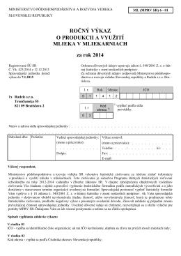 ML (MPRV SR) 6-01 - Štatistický úrad SR