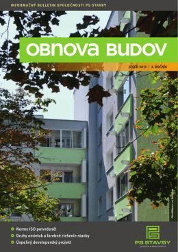 jesennom čísle časopisu Obnova budov