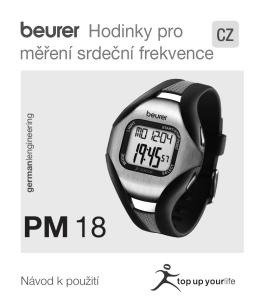 návod pro BEURER PM 18