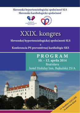 Program - Slovenská Hypertenziologická Spoločnosť
