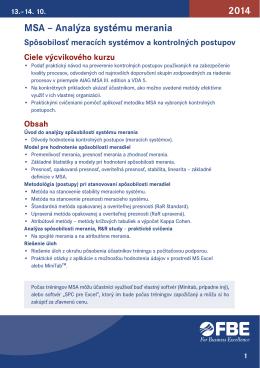 2014 MSA – Analýza systému merania