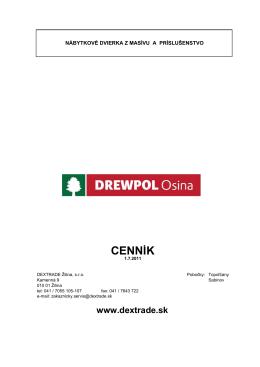 Obálka DREWPOL - Dextrade Žilina, sro