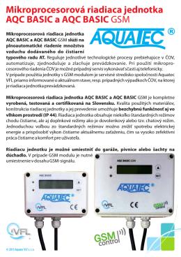 Mikroprocesorová riadiaca jednotka AQC BASIC a