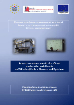 Informačná brožúrka o projekte