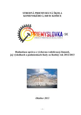 STREDNÁ PRIEMYSELNÁ ŠKOLA KOMENSKÉHO 2, 040 01