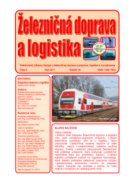 2/2011 - Fakulta prevádzky a ekonomiky dopravy a spojov
