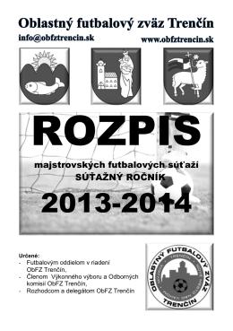 Rozpis súťaže 2013-14 časť A až F