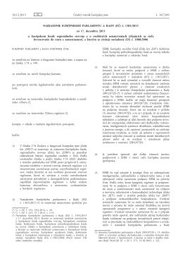 Nariadenie Európskeho parlamentu a Rady (EÚ) č. 1301/2013 zo