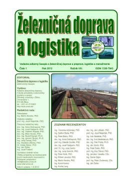 1/2012 - Fakulta prevádzky a ekonomiky dopravy a spojov