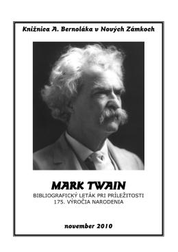 Mark Twain - Knižnica Antona Bernoláka