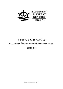 spravodajca_SPK_17_2013.pdf - Slovenský plavebný kongres