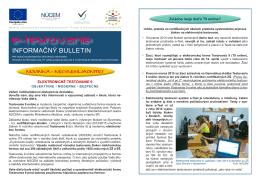 Informačný bulletin - e-testovanie