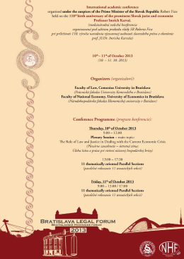Programme of the Conference