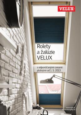 Rolety a žalúzie VELUX