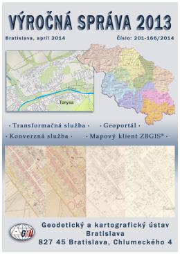 Výročná správa za rok 2013 - Geodetický a kartografický ústav