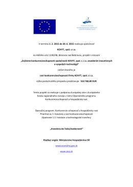 Aktuálne projekty s podporou Európskej únie z Európskeho