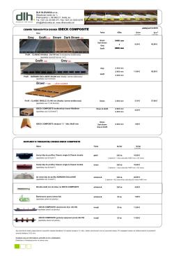 MOC cenník - Terasové dosky iDeck Composite