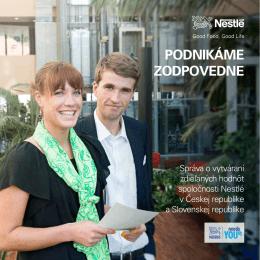 Správa o spoločenskej zodpovednosti Nestlé v ČR a SR
