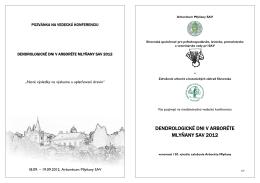 dendrologické dni v arboréte mlyňany sav 2012