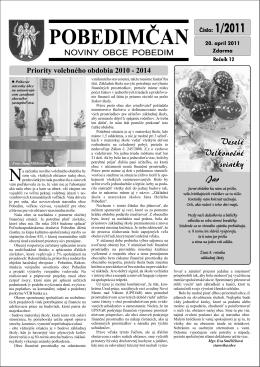 Pobedimčan č. 01/2011