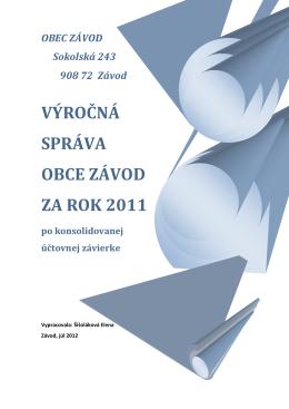 konsolidovaná výročná správa 2011