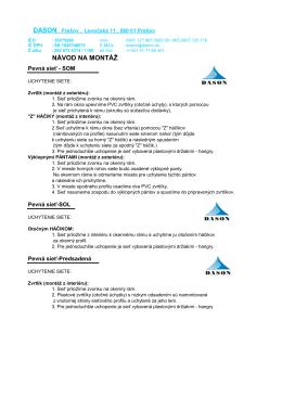 Návod na montáž (PDF)