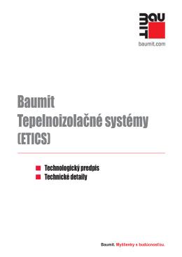 Technologický predpis Baumit - Tepelnoizolačné systémy