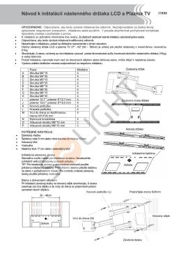 Návod k inštalácii nástenného držiaka LCD a - SOLIGHT E-shop