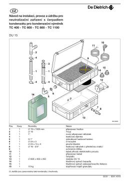Návod na inštaláciu, prevádzku a údržbu pro neutralizačné